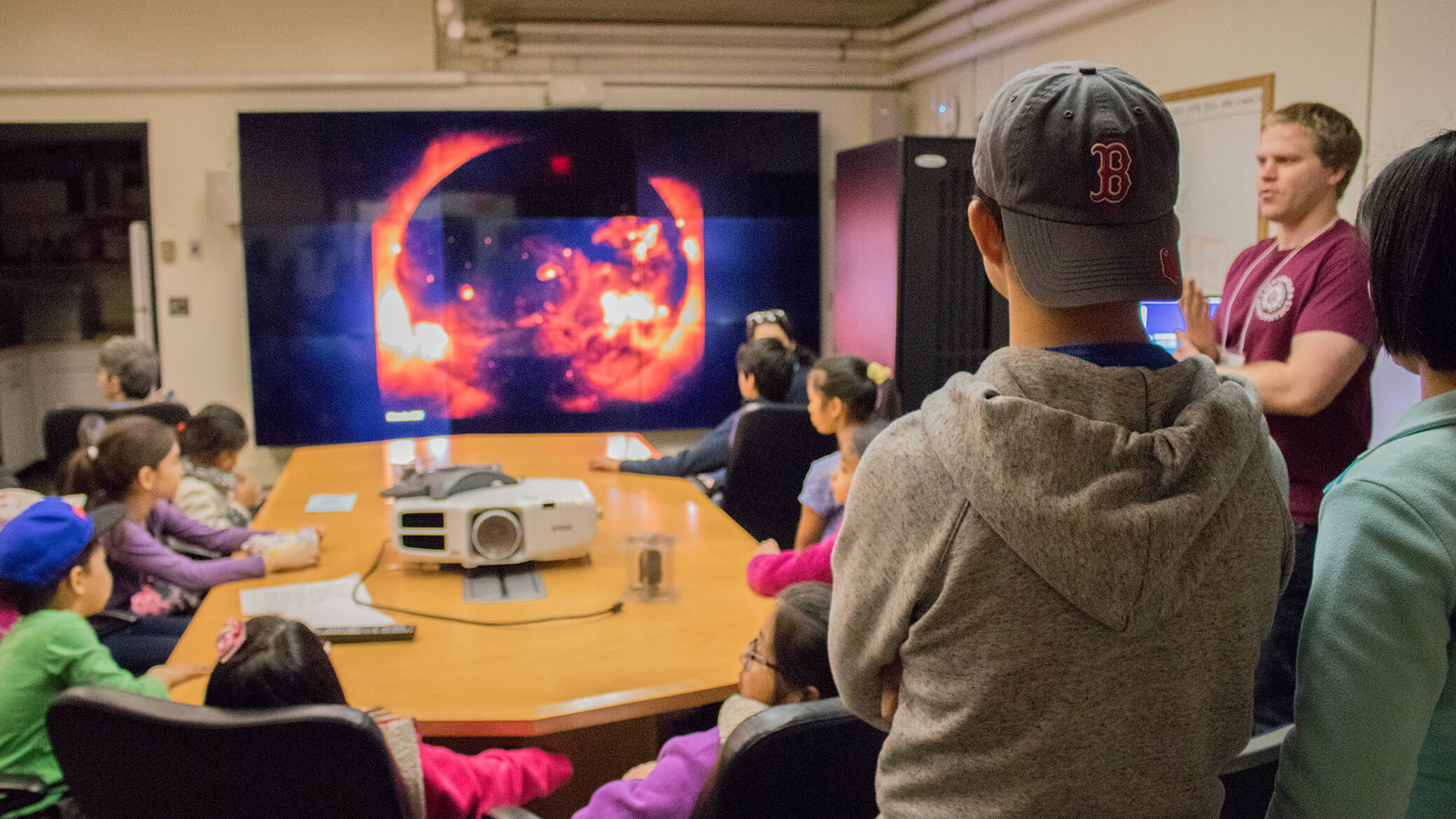Members of the public attend Cambridge Explores the Universe 2018 at the Center for Astrophysics | Harvard & Smithsonian.